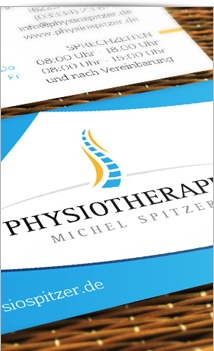 Visitenkarten Website Physiotherapie Spitzer Eberswalde